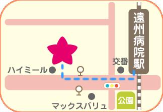 遠州病院駅からの案内図